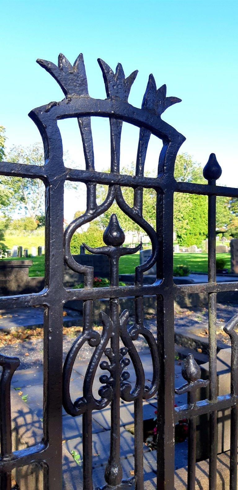 Iron fence details
